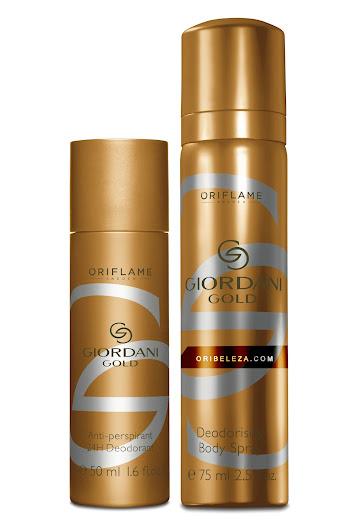 Spray Corporal e Desodorizante Giordani Gold da Oriflame