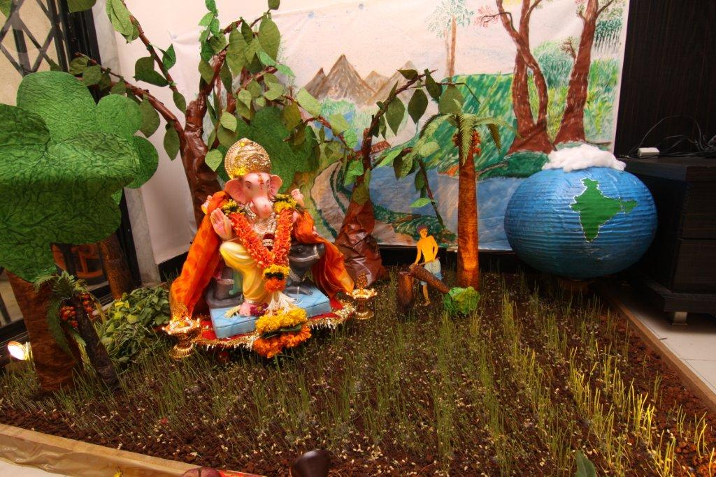 Ecobappa for Artificial flower decoration for ganpati