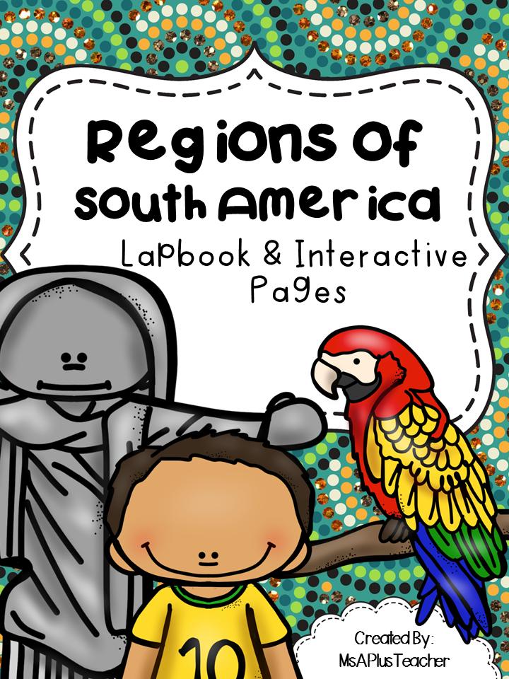 http://www.teacherspayteachers.com/Product/Regions-of-South-America-Lapbook-1618283
