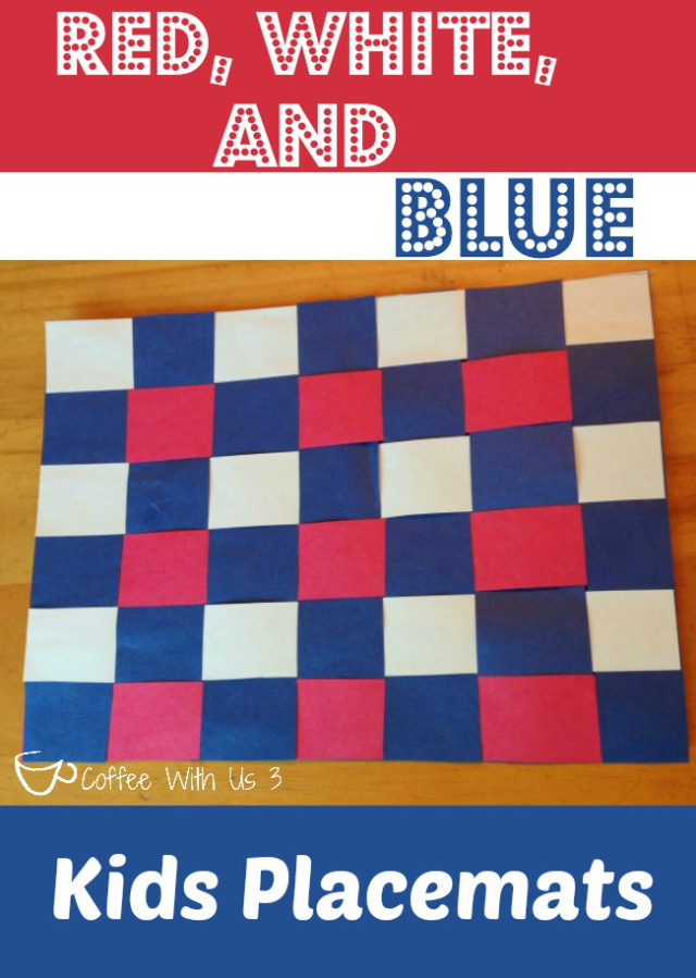 Red, White & Blue Kids Placemats | 20 Crafts for the 4th of July - Independence Day DIYs | directorjewels.com