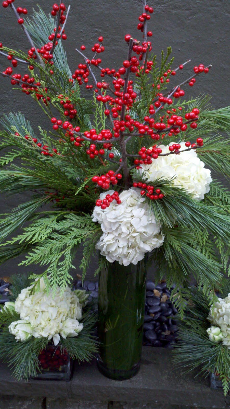 Winter Holiday Florals Juniper Flowers