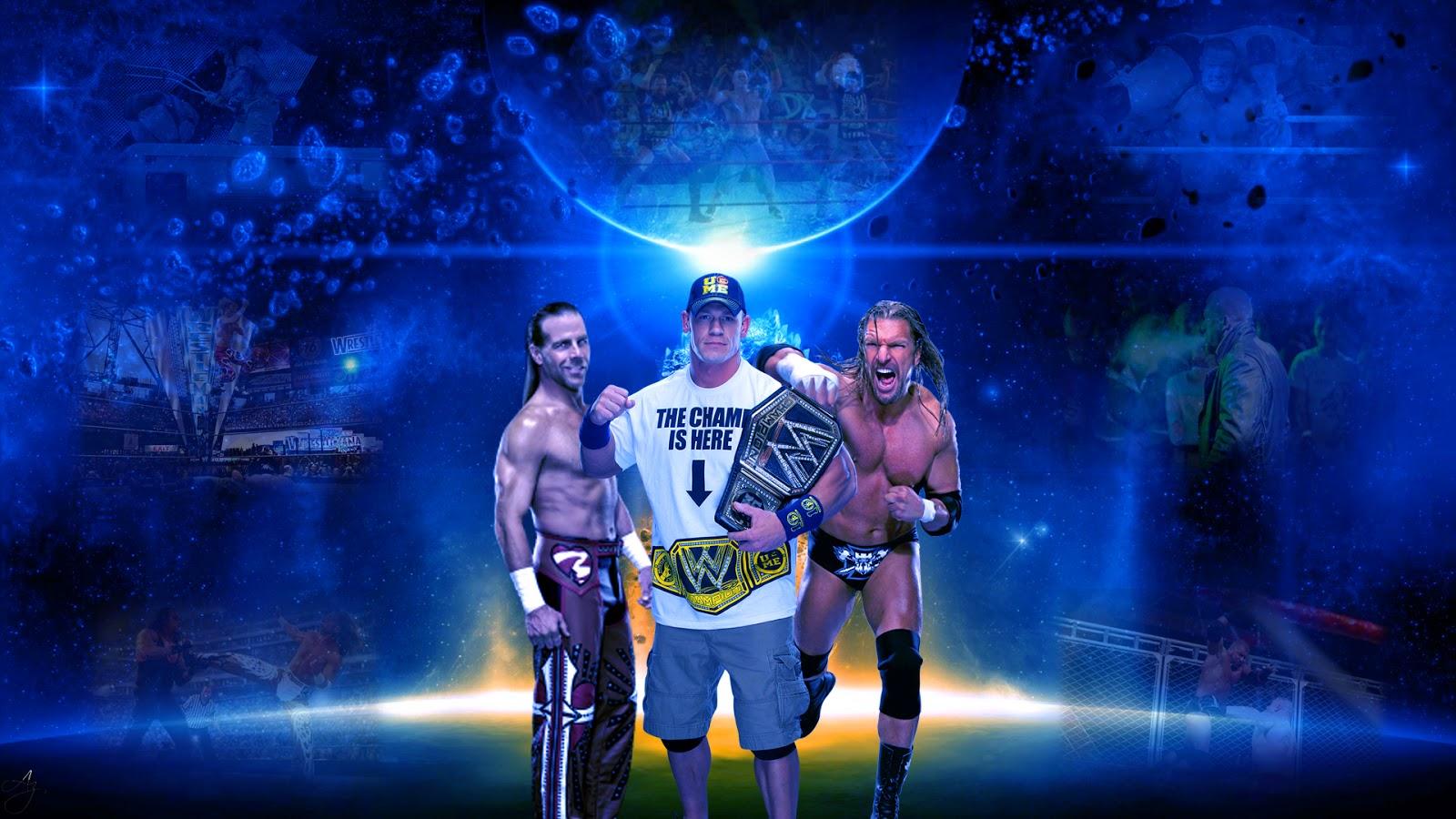 Shawl Michaels John Cena Triple H HD Wallpaper
