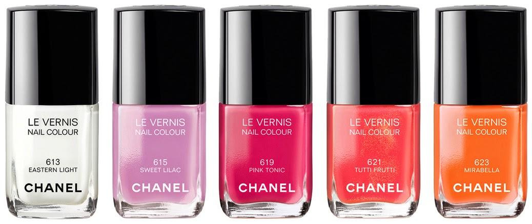 Лаки для ногтей LE VERNIS из новой летней коллекции CHANEL 2014 года REFLETS D'ÉTÉ DE CHANEL