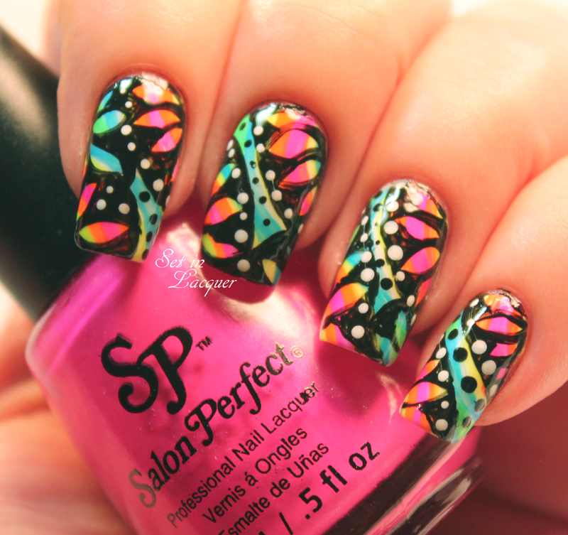 Salon Perfect Neon POP! Collection - Neon Nail Art - Set in Lacquer