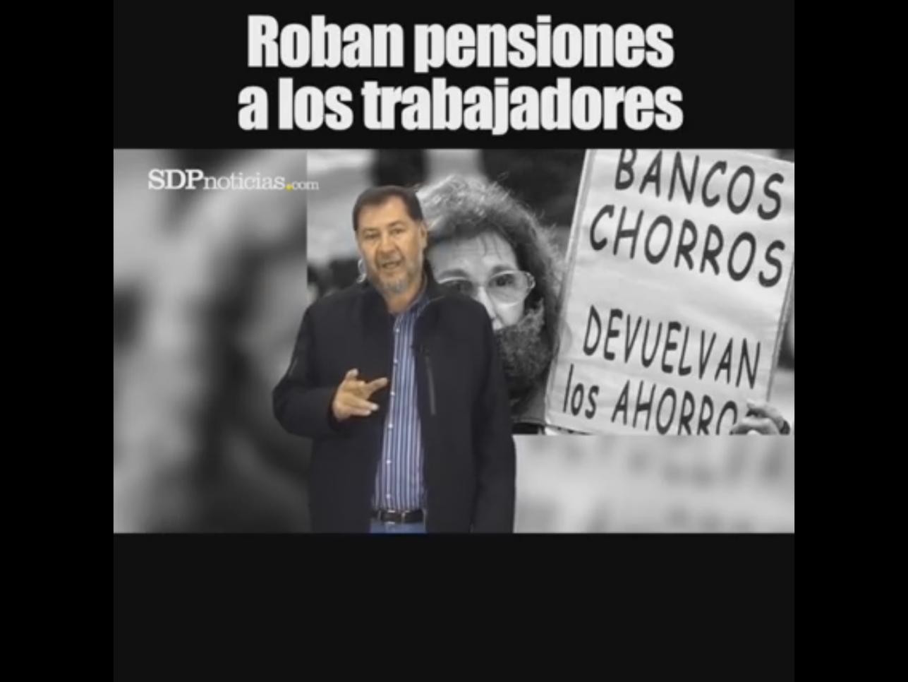 VIDEO: ROBAN PENSIONES A LOS TRABAJADORES