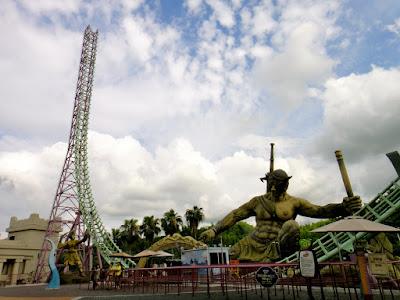 The 90 degrees roller coaster at E-da Theme Park Kaohsiung