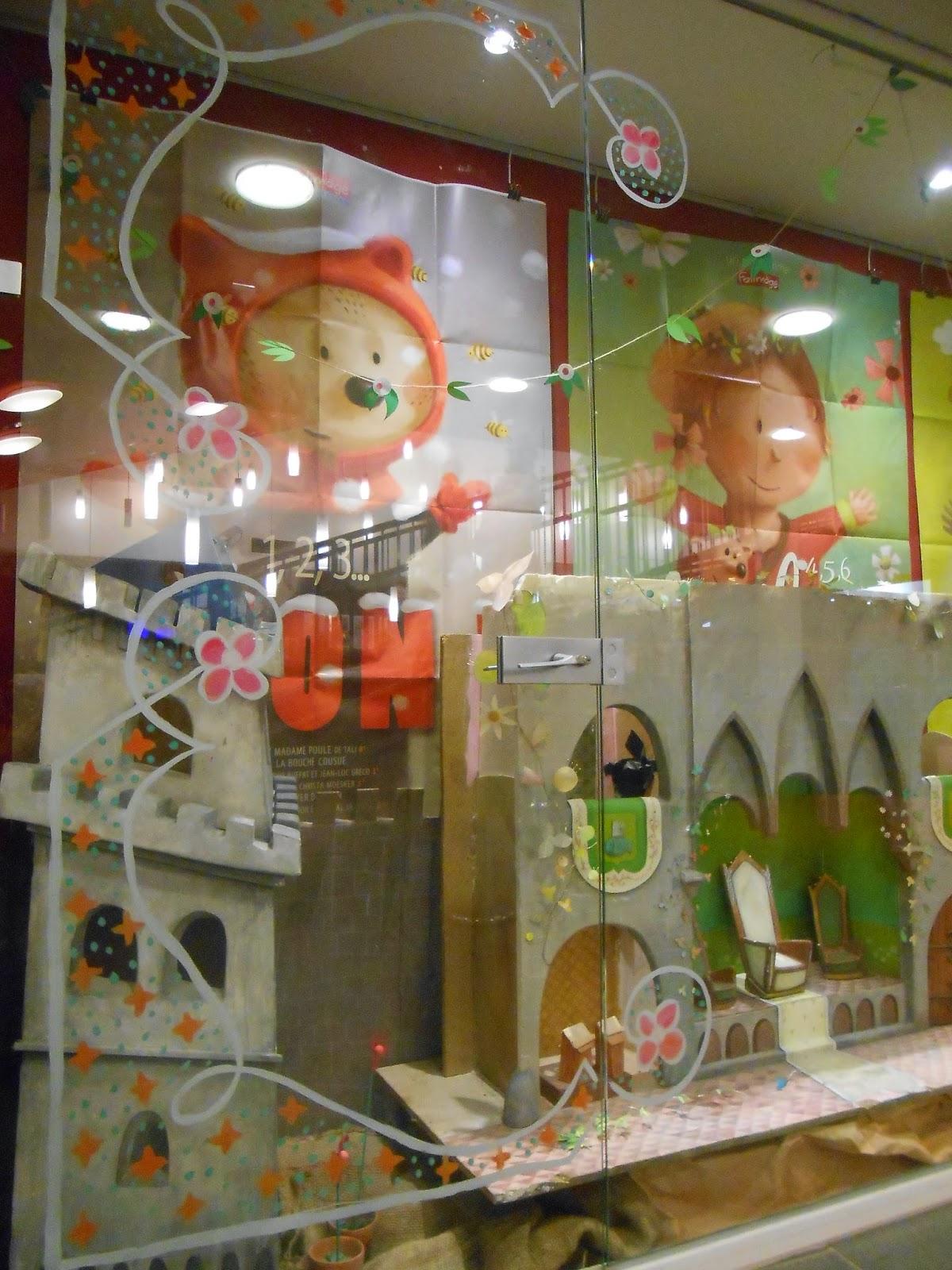 décoration de vitrine