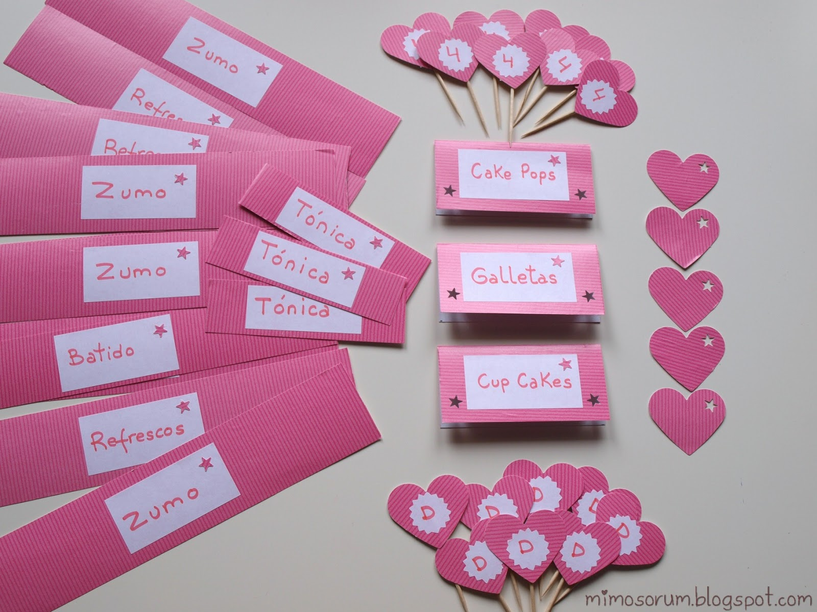 Mimosorum fiesta de cumplea os en rosa y con washi tape - Como adornar una cartulina ...