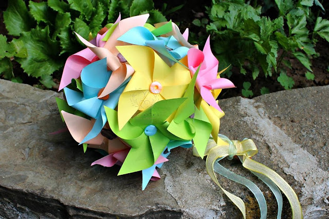 wedding bouquet pinwheels