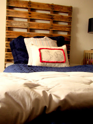 Wood Pallet Headboard