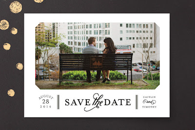 save the date, photo card, modern save the date