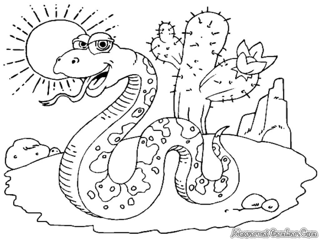 desert coloring pages for preschoolers - photo#20