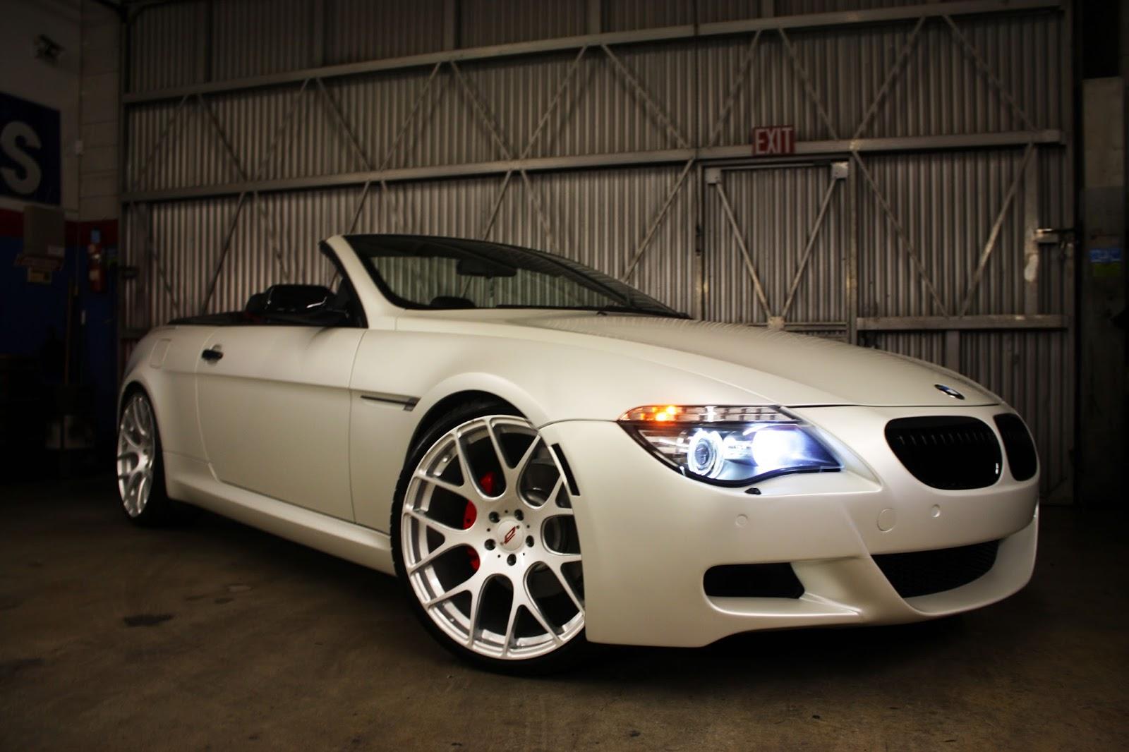 European vision autoworks satin pearl white bmw 650i custom exhaust publicscrutiny Images