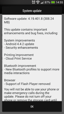 HTC One gets Android 4.4.2 KitKat update