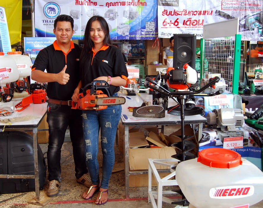 echo chainsaws are sold in the united states and canada at home depot but in buriram at builders merchants buriram is proud to