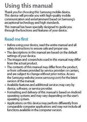 Samsung Galaxy S3 S III GT-I9300 User Manual