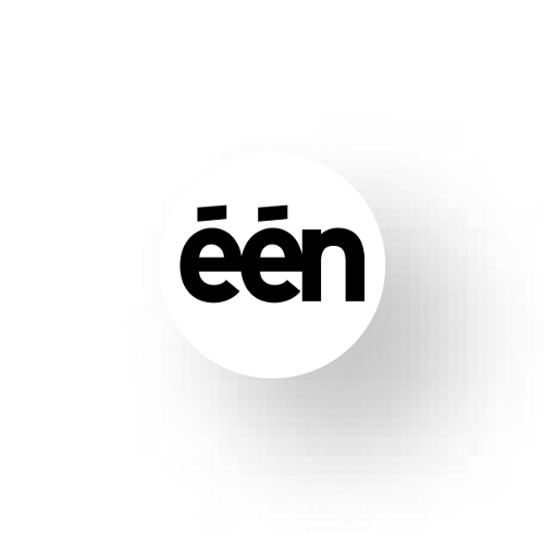 Eén (English: one, stylized as één) is a public Dutch-language TV station in Belgium, owned by the VRT, which also owns Ketnet, Canvas and several radio stations. Although the channel is commercial-free, short sponsorship messages are broadcast in between some programmes.