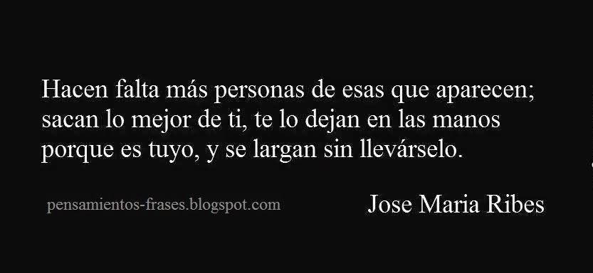 frases de José María Ribes