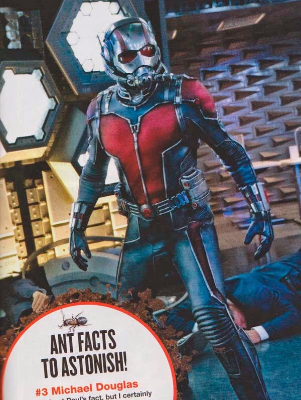 Fotos de Empire con Paul Rudd dentro del traje de Ant-Man