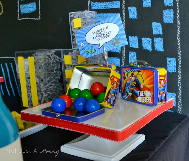 super dad superhero table