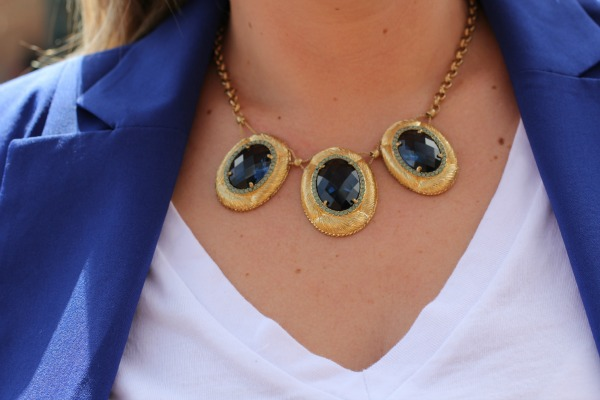 Blue and Gold Carolee Necklace