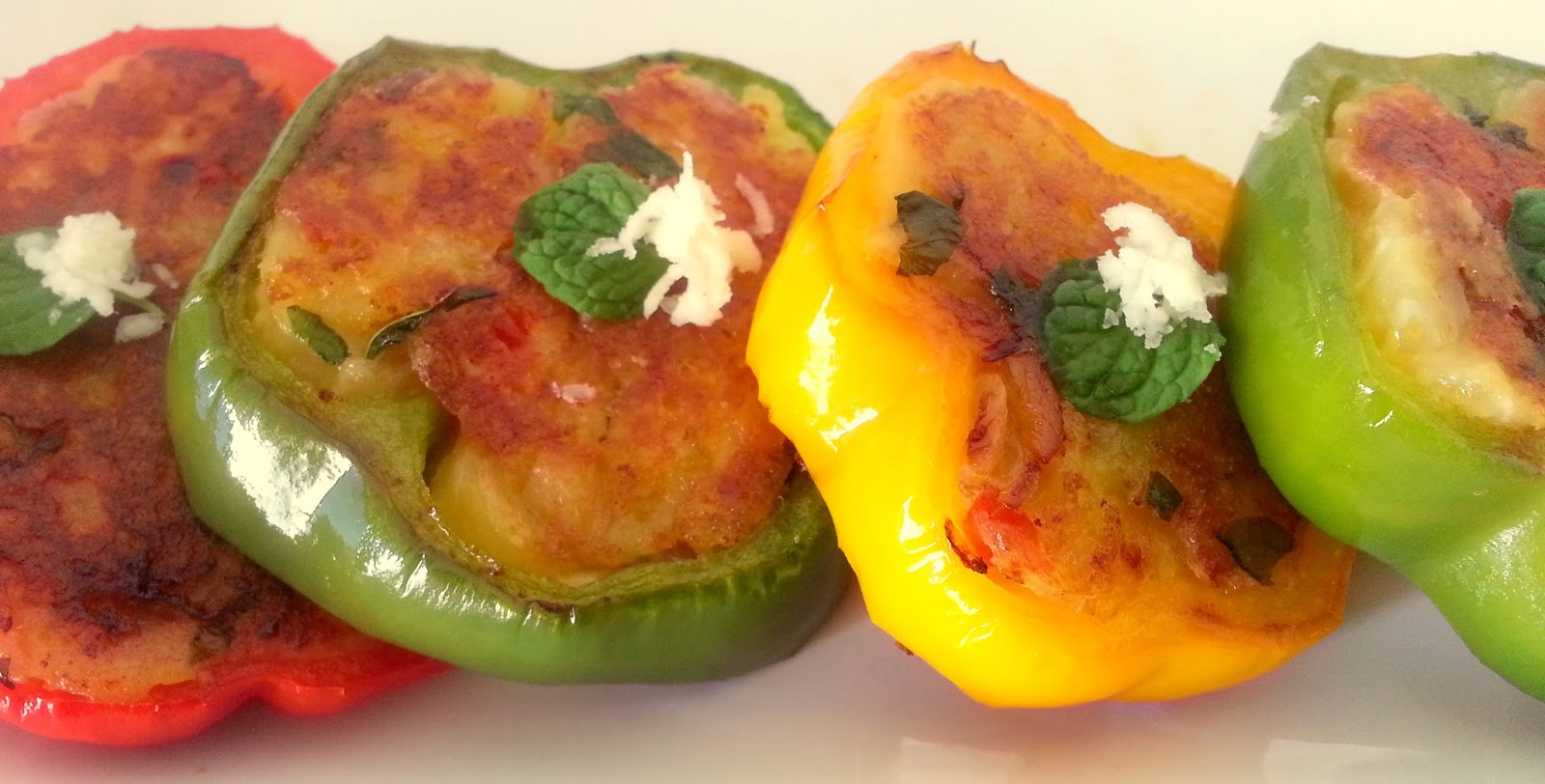 Annapurna stuffed bell peppers vegetarian starter recipe everything we do in life and the colors we choose in our food is no exception adding colors to our palate is the best way to brighten up our mood forumfinder Choice Image