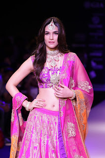 Kriti Sanon Stunning Beautiful Designer Ghagra Choli Walks teh Ramp HQ Stunning Pics