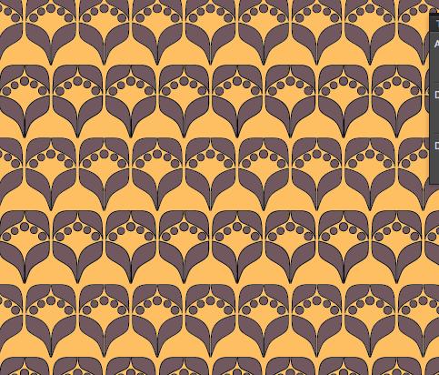tulip motif pattern by meganhcarroll