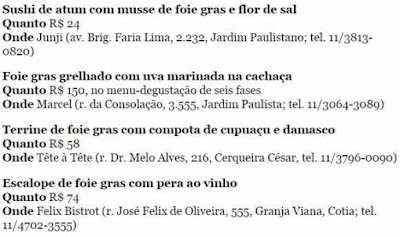 Onde comer Foie Gras em São Paulo antes de acabar