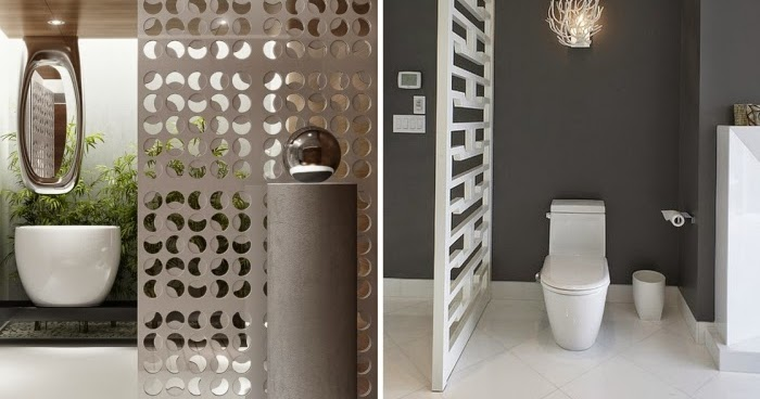 Bathroom design ideas for how to give privacy for the toilet area - Decoratie design toilet ...