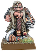 Dwarf Allied General miniature