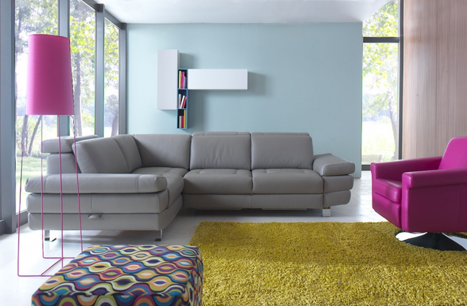 Ideas para un sof gris rinconero en el sal n decoraci n for Sofas grises decoracion