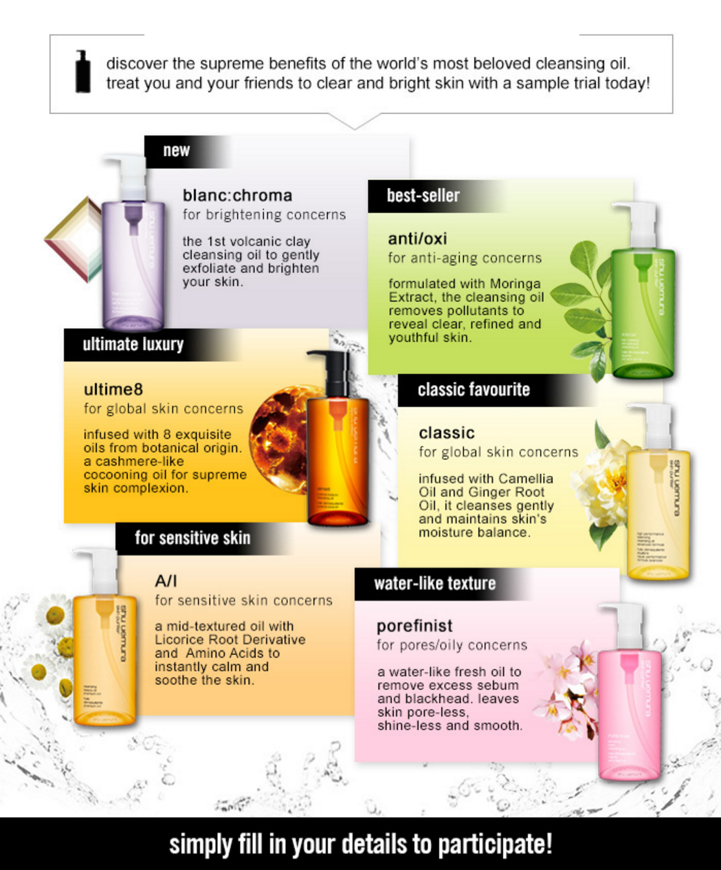 shu uemura Malaysia is giving away FREE Cleansing Oil sample trial 2015