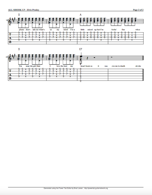 all shook up guitar tab Our guitar tab sheet music catalog includes arrangements of thousands of songs and solo works all shook up: elvis presley: guitar tab.