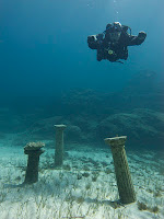 Diver trims out on check dive in cyprus