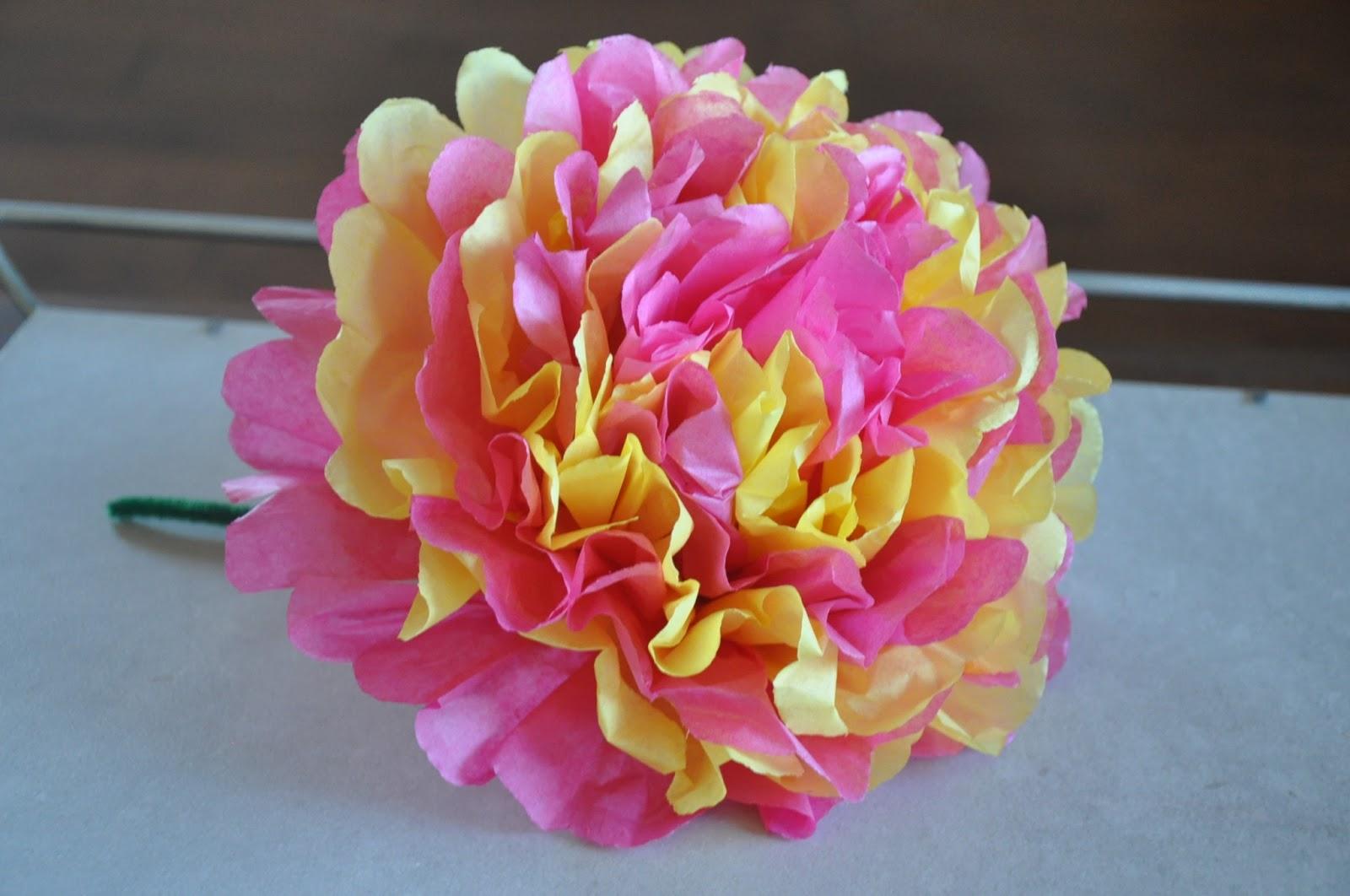 Mams Todoterreno Cmo hacer una flor con papel de seda