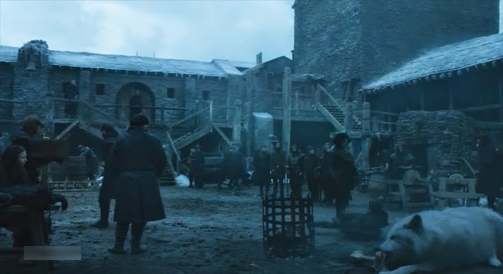 HBO Game of Thrones s05e01: Ghost and his bone