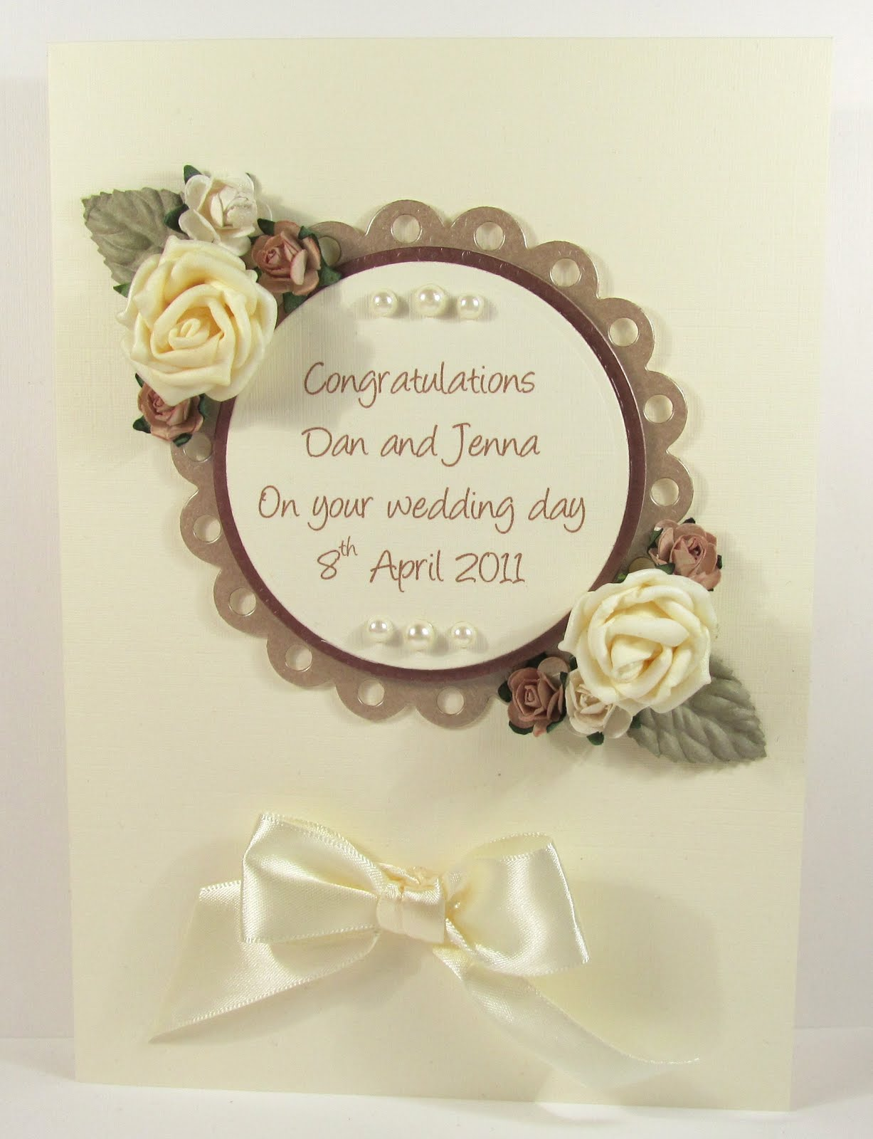 A Day in the Life of a Craft Fairy...: Wedding Card Idea :: Coffee ...