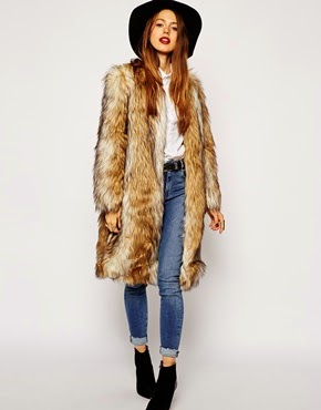 Fur coat Asos