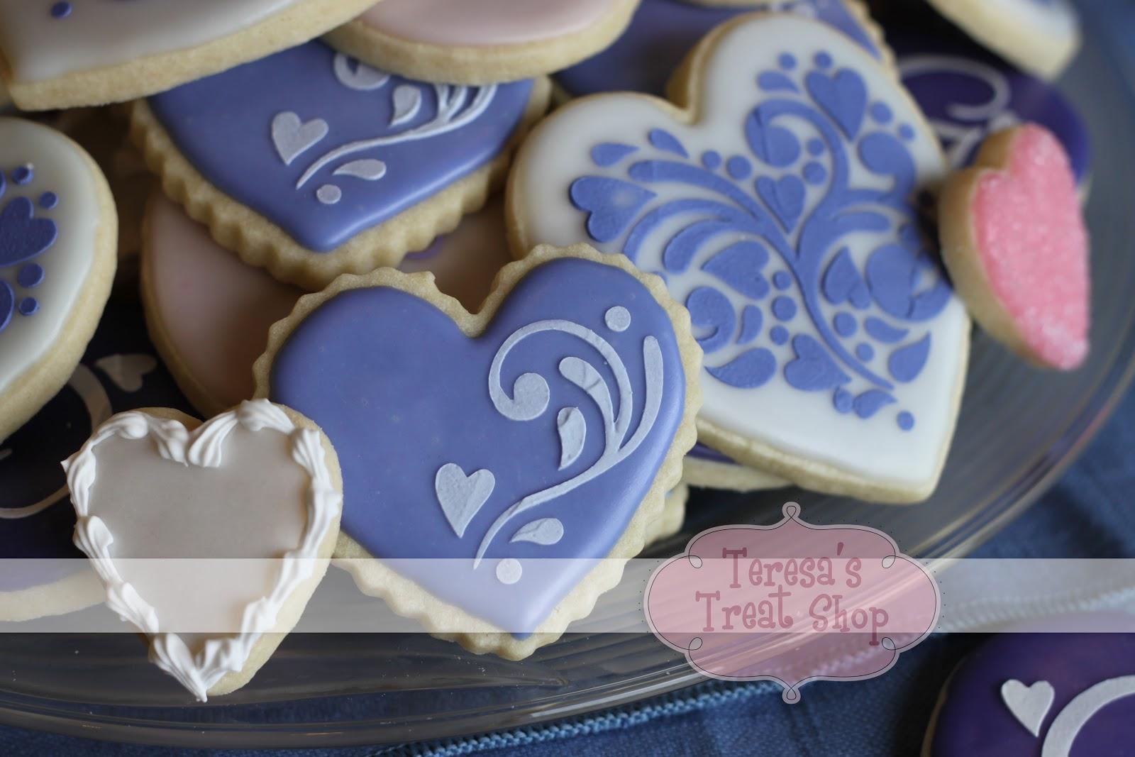 Teresa\'s Treat Shop: Stenciled Wedding Cookies