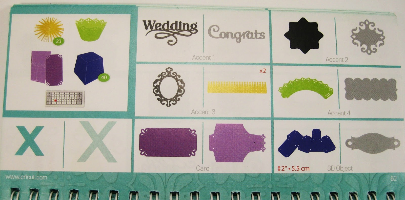 Fantabulous cricut challenge blog fantabulous friday 165 wedding - I Cut The Box And Rosette Shapes Using The X Key On Page 62 Of The Artiste Booklet To View The Complete Artiste Handbook Click Here