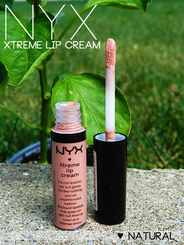 nyx xtreme lip cream natural