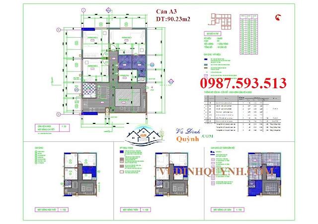 Căn A3 dự án 122 Vĩnh Tuy