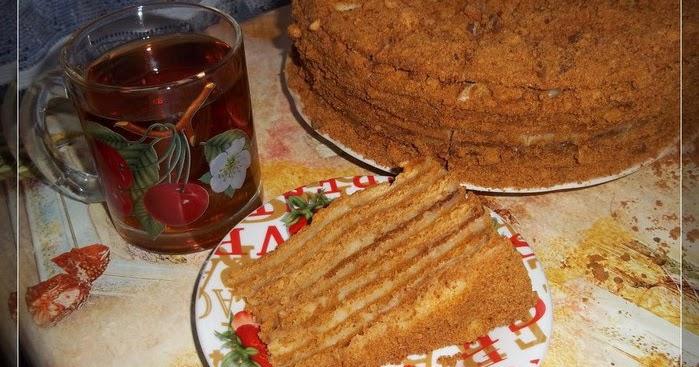 Рецепт медовика с заварным кремом рецепт с