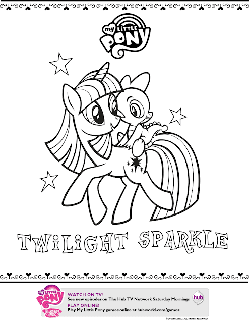 Twilight Sparkle Color Page This Is A Wonderful Addition To The Collection Of My Little Pony Friendship