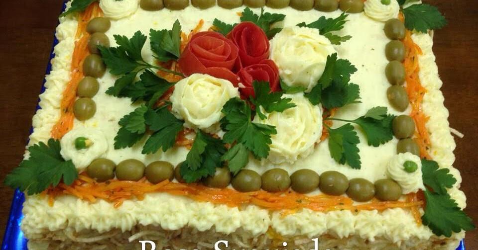 Enfeite De Torta ~ Bolo salgado de p u00e3o de forma Culinária Receitas Mauro Rebelo