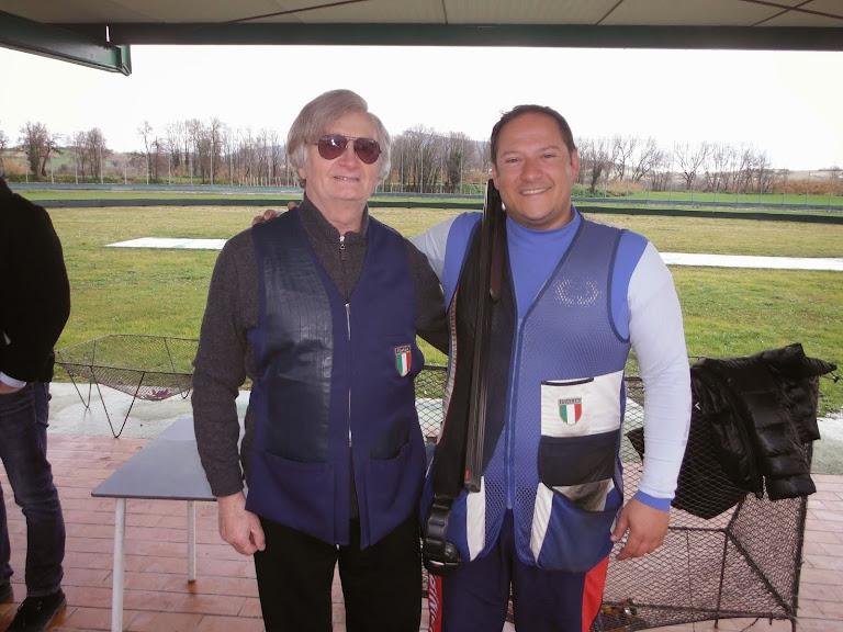 2015 - Bordi Giulio con l'amico campione olimpico Fabbrizi Massimo (Clicca per il video)