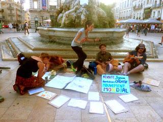 Atelier de musique des indignés de Montpellier
