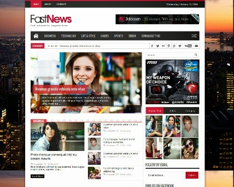 Fast News -  Responsive  Blogger Template