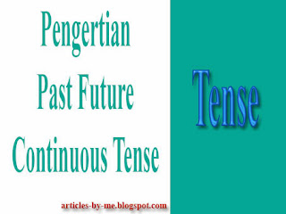 Pengertian Past Future Continuous Tense